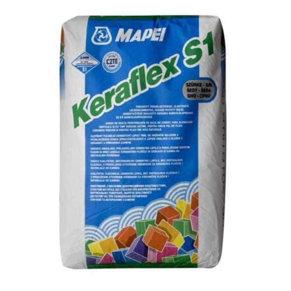 Mapei Keraflex S1 szürke ragasztóhabarcs - 25 kg